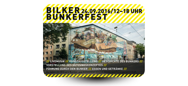 Bilker Bunkerfest am 24.09.16